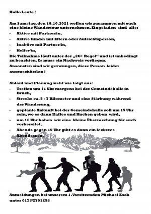 Vereinstag mit Wanderung KV Brucher Linsen 16.10.2021